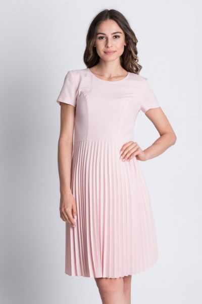 Plisowana sukienka odcinana w talii BIALCON cena sklep
