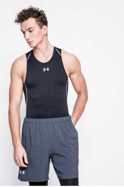 Under Armour - T-shirt ARMOUR HG COMP TANK-BLK//STL