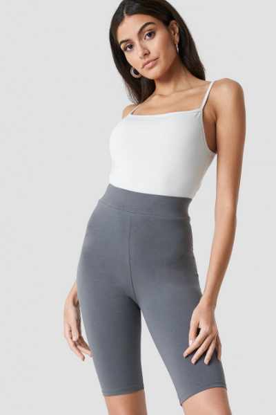 Nicki x NA-KD Długie szorty basic - Grey