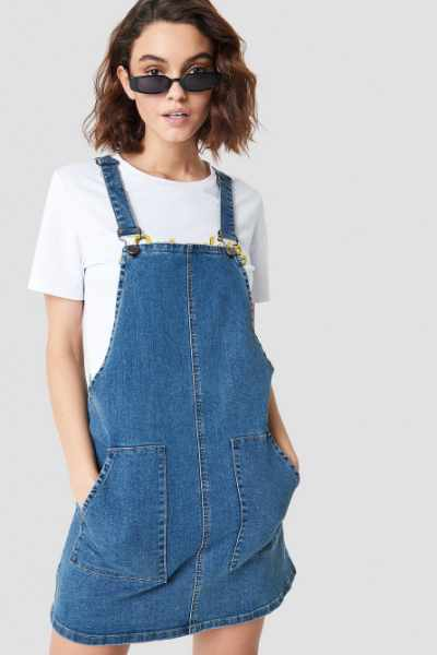 Sisters Point Fame Dungarees - Blue