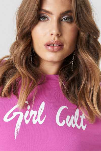 Galore x NA-KD Bluza Oversized Girl Cult - Pink