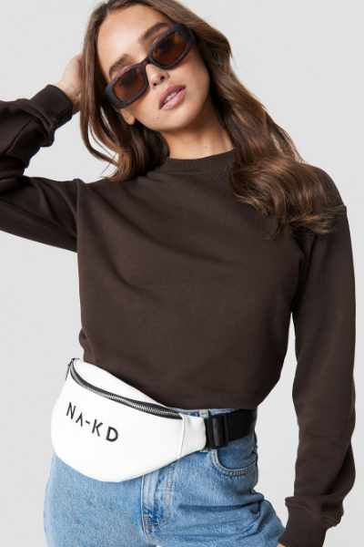 NA-KD Basic Bluza basic - Brown