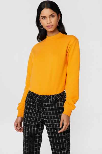 NA-KD Basic Bluza basic - Orange