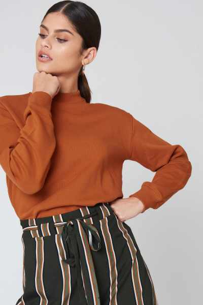 NA-KD Basic Bluza basic - Orange,Copper