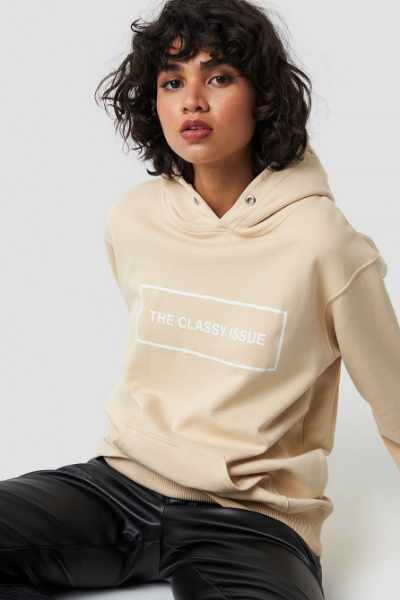 The Classy Issue Classy Hoodie - Beige