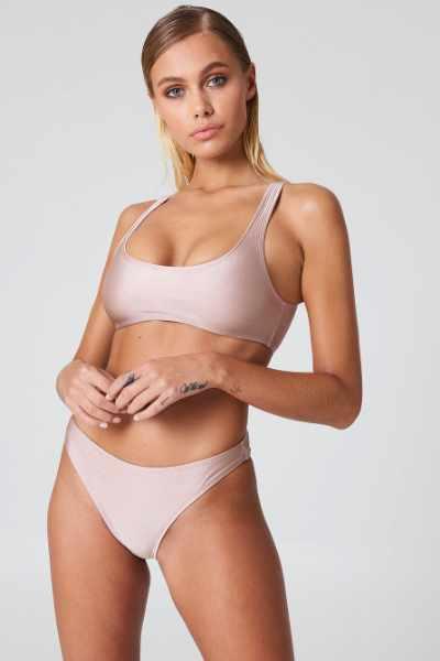 5e8cbbb162737d NA-KD Swimwear Sportowy dół bikini - Nude cena sklep internetowy