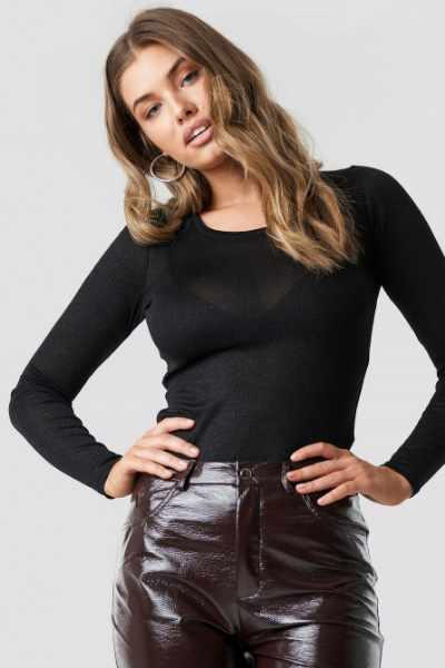 Sparkz Savanna Longsleeve Top - Black